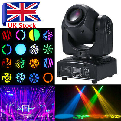 30W GOBO Stage Lighting Spot RGBW LED Moving Head DMX Disco DJ Party Light UK • 70.99£