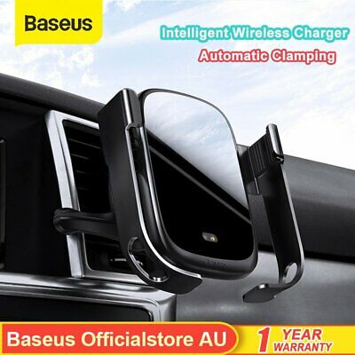AU36.99 • Buy Baseus Qi Wireless Car Charger Automatic Phone Holder Mount For IPhone Samsung
