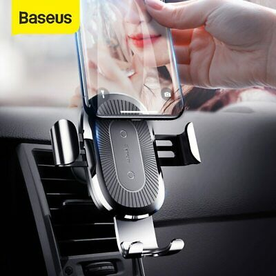 AU27.99 • Buy Baseus 10W Qi Wireless Fast Charger Car Holder Automatic Gravity Mount CD Slot