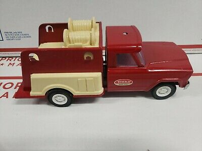 $39.95 • Buy Vintage 1960's Tonka Jeep Gladiator Fire Truck 10 Inch #52110 *Parts Or Repair*