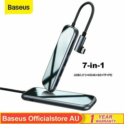 AU48.99 • Buy Baseus USB-C HUB Type C HD Output 4K HDMI USB 3.0 Port Adapter For MacBook Pro