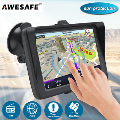 "AU79.99 • Buy AWESAFE 7"" GPS Navigation For Cars Truck Sat Nav With Sun Shield Free AU Map"