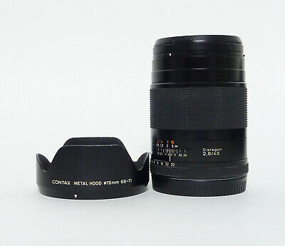 $599.99 • Buy Contax Distagon 45mm F2.8 With Hood, Pouch And Contax 72mm UV Filter - Excellent