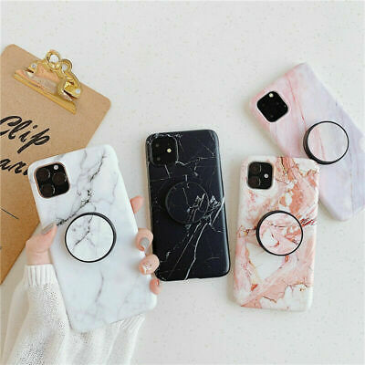 AU5.99 • Buy For IPhone XS Max Case Marble Pattern W Pop Up Holder TPU Shockproof XR 11 Pro