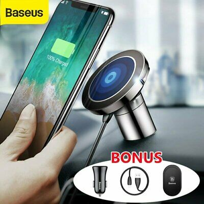 AU36.49 • Buy Baseus Qi Wireless Charger Magnetic Car Phone Holder IPhone 11 Pro XS XR Samsung