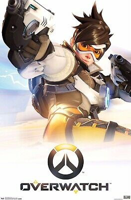 AU21.06 • Buy Overwatch Poster 22x34 RP4881 New TRACER Videogame Switch Xbox One PS4 Artwork