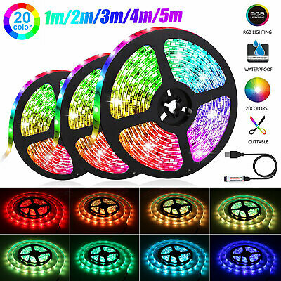 $8.97 • Buy 5050RGB LED Strip Battery Powered TV Kitchen Flexible Rope Waterproof Light 1-5M