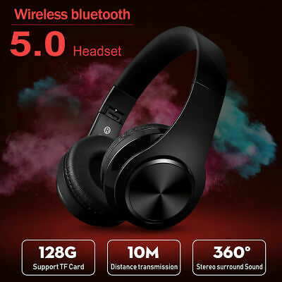 AU31.99 • Buy Black Gaming Headset Headphone Wireless Bluetooth Bass For XBOX ONE PC Online