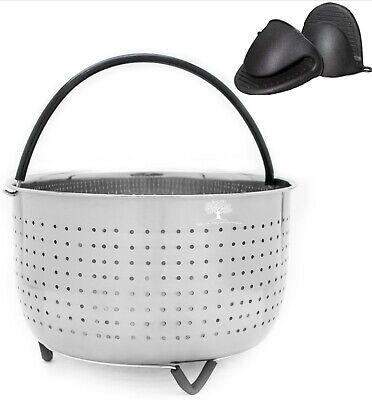 $13.95 • Buy 6 QT Steamer Basket For 6 -8QT Instapot, Foodi + 2 Mitts Instant Pot Accessories