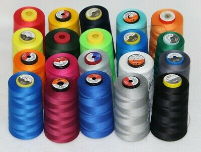 Sewing Thread Yarn Overlock Industrial 5000 Yards Per Cone All Colours FREE P&P • 4.50£