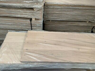 FULL STAVE Solid Oak Wood Worktops 7 Sizes Available @ 620mm X 38mm  Wide Planks • 55£