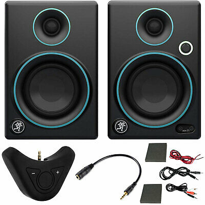 $99.95 • Buy Mackie CR3 3  Creative Reference Monitors (Pair) Blue + Bluetooth Audio Receiver