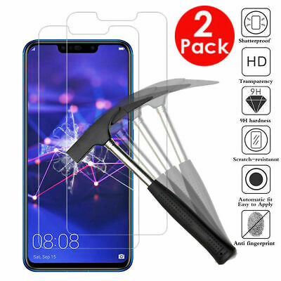 2X Tempered Glass Film Screen Protector For Huawei P Smart 2018 Y6 Y7 P20 Honor • 1.99£