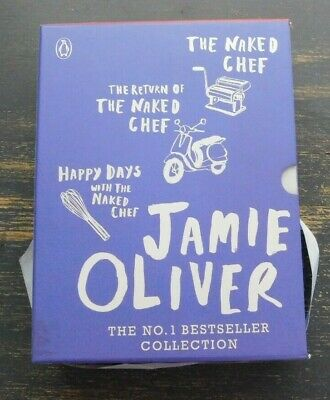 AU29.99 • Buy Jamie Oliver Cookbook Collection X 3 - Naked Chef, Happy Days & Return Of The