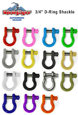 $26 • Buy 3/4  Bumper D-Ring Shackle For Jeep Wrangler 4x4 Steinjager