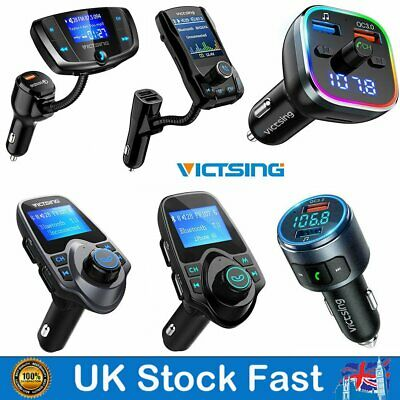 VictSing Bluetooth FM Transmitter Car Kit MP3 Player Radio Adapter USB Charger • 14.89£