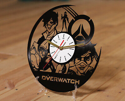 AU36.04 • Buy Overwatch Tracer Overwatch Clock Art Gift Vinyl Record Wall Clock