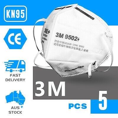 AU49 • Buy 5PCS KN95 3M 9502+ Face Mask Anti Dust Flu Protection Respirator Mask AU STOCK