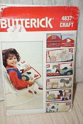 $5 • Buy Butterick   #4837 Vintage Craft Pattern Toddler Learning COUNTING Number Book