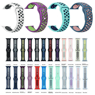 $ CDN4.13 • Buy Silicone Band Strap For Apple Watch 1/2/3/4/5 IWatch Sports Series 38/42mm