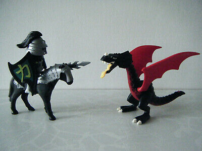 PLAYMOBIL DRAGON And Samurai Warrior Knight With Armoured Horse • 8.99£