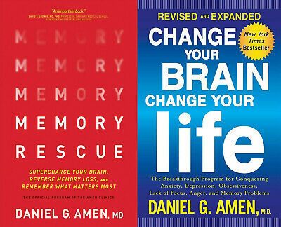 $3.50 • Buy Memory Rescue By Daniel G. Amen + CHANGE YOUR BRAIN CHANGE YOUR LIFE ⚡ (ᑭ.ᗪ.ᖴ) ⚡