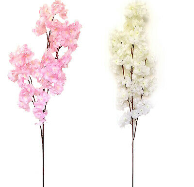 £2.99 • Buy 100cm Artificial Branch Cherry Blossom Fake Silk Flower Tree Party Home Decor AT