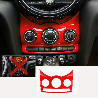 AU149.49 • Buy For MINI Cooper F55 F56 2016-2020 ABS Red Console AC Switch Control Frame Trim