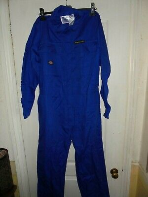 Dickies Royal Blue Cover/Overall Boilersuit WD4869 Proban Retardent 100% Cotton • 19.99£