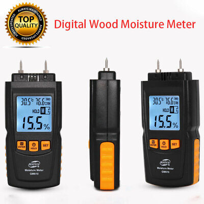 Digital LED Meter Damp Tester Detector Wood Plaster Wall Moisture Level New • 33.25£