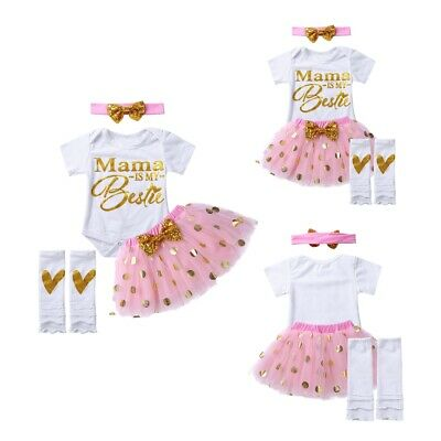 AU25.95 • Buy Kids Infant Baby Girls Birthday Dress Princess Tutu Skirt Outfits Party Clothes