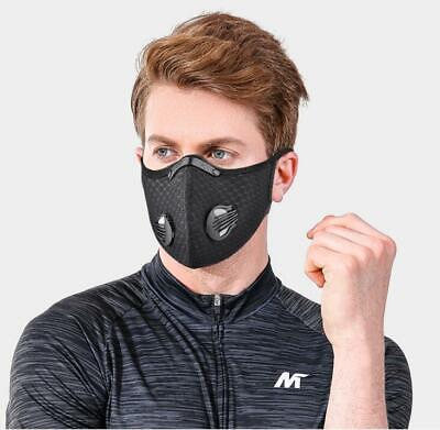 AU24.55 • Buy Washable Reusable Carbon Face Mask Activated With Respirator Face Filter PM 2.5