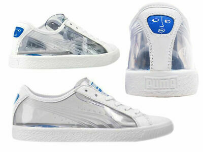 Puma Clyde Clear Shantell Martin Adults Unisex Trainers White 365898 01 • 49.99£
