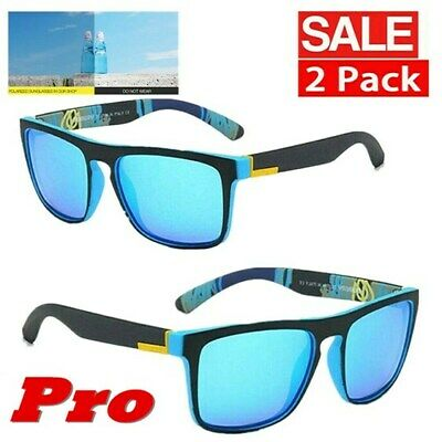 AU13.78 • Buy Mens Sunglasses Riding Glasses Driving Sport Outdoor Fishing Beach Eyewear 2Pack