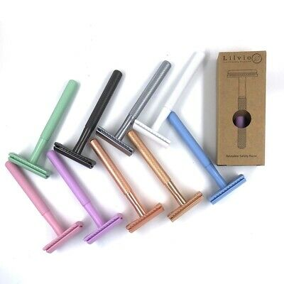 AU36.95 • Buy Double Edge Safety Razor + 5 Shark Blades From @Lilvio_Living, Choice Of Colour