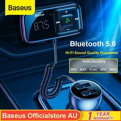 AU21.59 • Buy Baseus Bluetooth 5.0 FM Transmitter Handsfree USB Charger Car Kit Radio Adapter