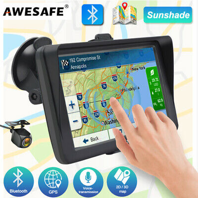 AU83.99 • Buy 7 Awesafe GPS Navigator With Sunshade And Bluetooth Navigation Portable AU Map