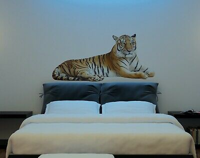 Big Wild Tiger Wall Art Sticker Vinyl Transfer Graphic Decal Home Decor UK • 12.98£