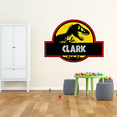 Dinosaur Wall Sticker Jurassic Park Personalised Name Decals Vinyl Art Removable • 14.88£