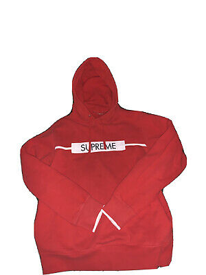 $ CDN147.03 • Buy Authentic Supreme Box Logo BOGO Hoodie Red MEDIUM M *