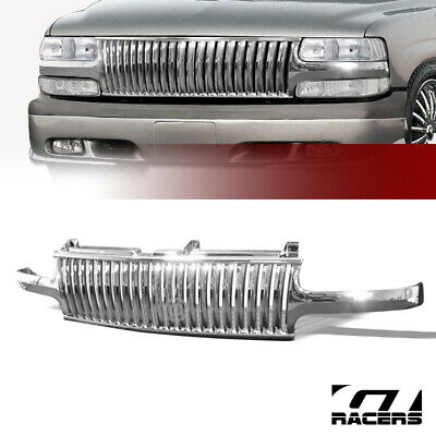 $98 • Buy For 1999-2006 Chevy Silverado/Tahoe/Suburban Chrome Vertical Front Bumper Grille