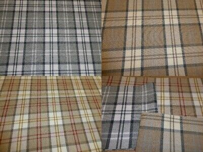 £10.99 • Buy Tartan Checked Wool Effect Weave Upholstery Fabric (THREE COLOURS) Gleneagles