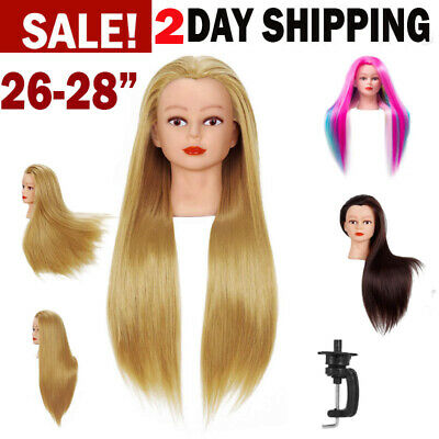 $25.99 • Buy Cosmetology Mannequin Head 26  - 28  Human Hair Hairdressing Training Model Doll
