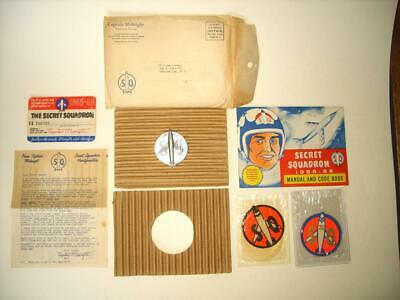 $499.99 • Buy RARE 1955-56 CAPTAIN MIDNIGHT LOT  SCARCE MANUAL  W/DECODER IN MAILER-PATCH-CARD