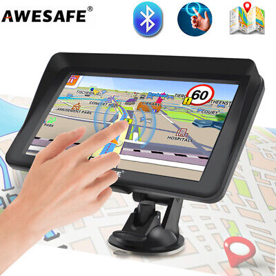 AU83.99 • Buy 7 AWESAFE GPS Navigator For Car Truck Sat NavI 8GB Bluetooth And Sunshade AU MAP