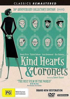 Kind Hearts And Coronets - DVD Region 2,4 Free Shipping! • 14.44£