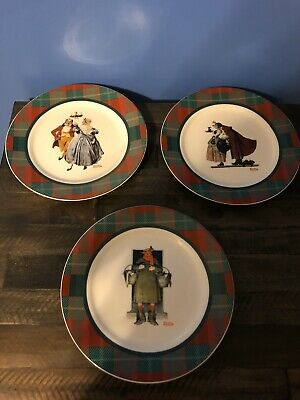 $ CDN17.59 • Buy NORMAN ROCKWELL Saturday Evening Post Collection Set Of 3 Christmas Plates