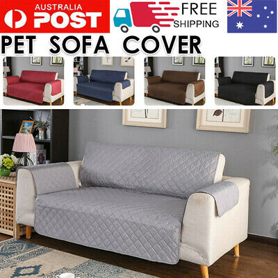 AU25.07 • Buy Sofa Cover 1 2 3 Seater Quilted Couch Covers Lounge Protector Pet Dog Slipcovers