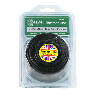 Alm Extra Heavy Duty Electric Petrol Strimmer Line 3.5mm Round Trimmer Line 15m • 6.99£