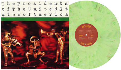 The Presidents Of The United States Of America - SIGNED Green Marble Vinyl LP • 179.21£